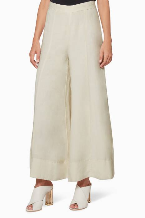 Cream Delon Flared Pants