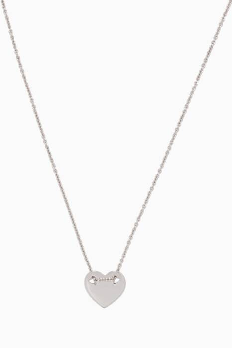 White-Gold Little Hearts Necklace