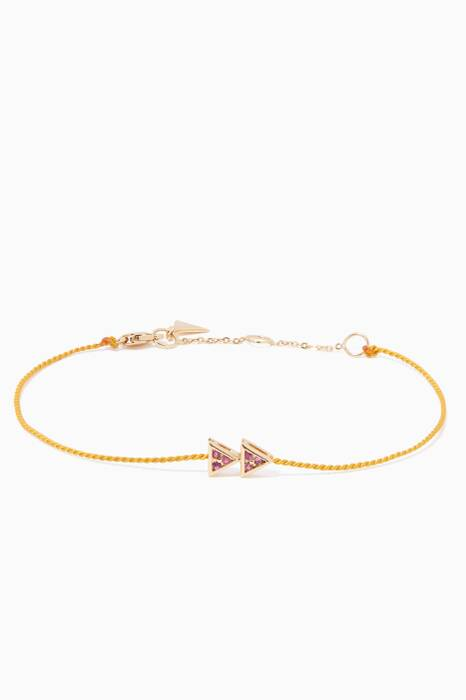 Yellow-Gold Fast Forward Express Girl Code Bracelet