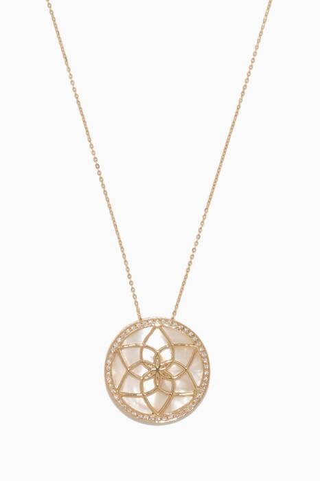 Yellow-Gold Chasing Dreams Dreamcatcher Necklace