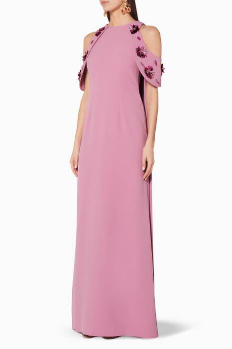 Light-Purple Embellished Tazanna Gown