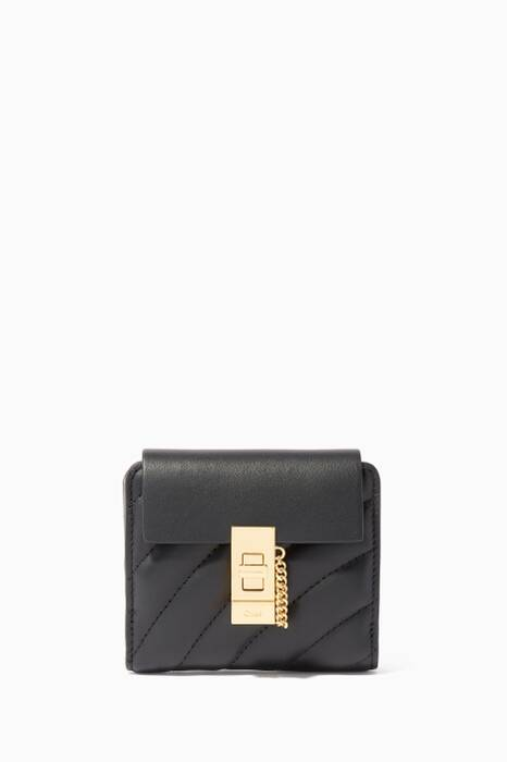 Black Small Drew Quilted Leather Wallet