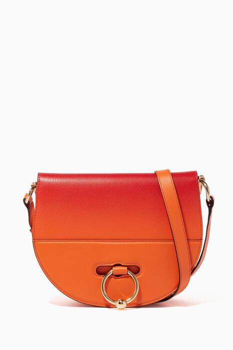 Tangerine Latch Cross-Body Bag