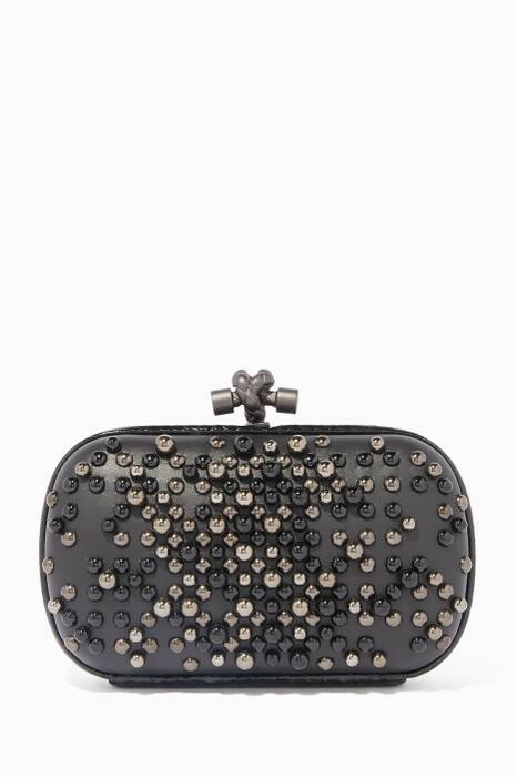 Black Spheres Knot Clutch