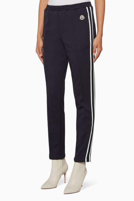 Navy Side-Striped Track Pants