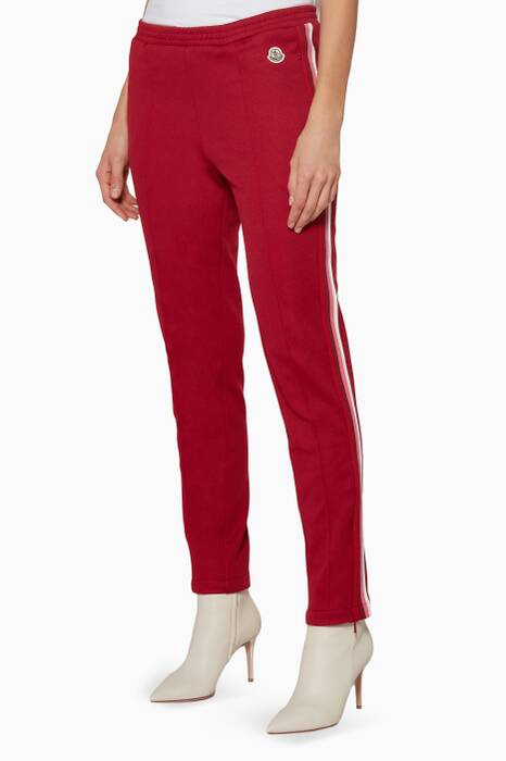 Red Side-Striped Track Pants