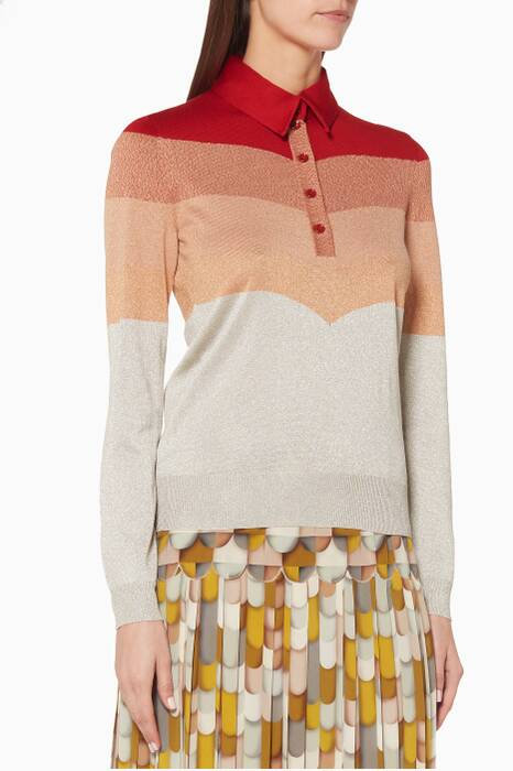 Graduating-Red Lurex Sweater