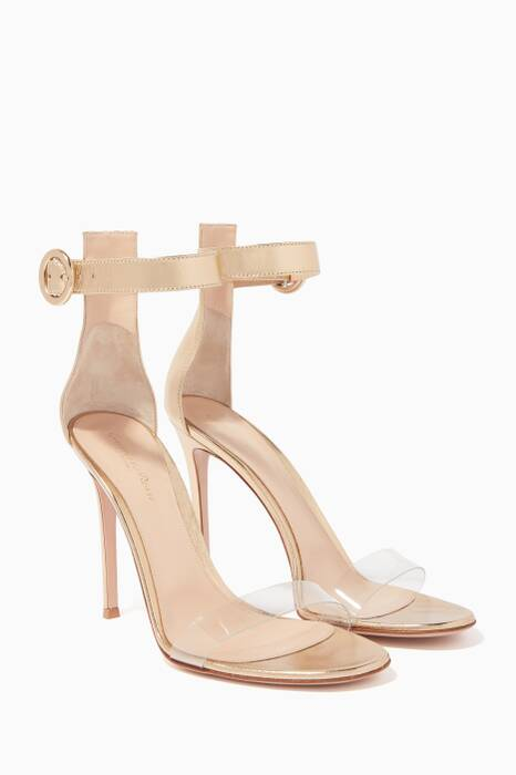 Gold Portofino PVC Sandals