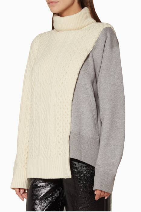 Cream & Grey Wool Pullover