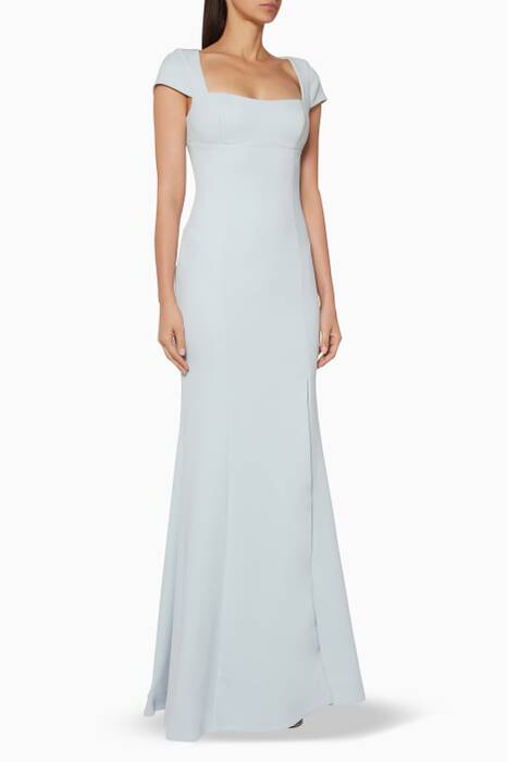Light-Blue Adriatic Open-Back Gown