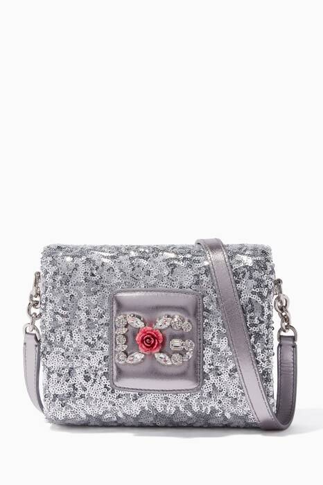Silver Crystal-Embellished Millennials Shoulder Bag