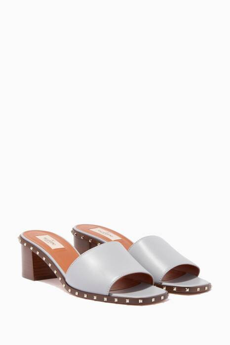 Light-Grey Rockstud Sandals