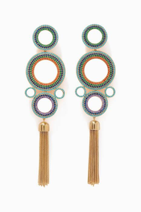 Multi-Coloured Rainbow Grommet Earrings
