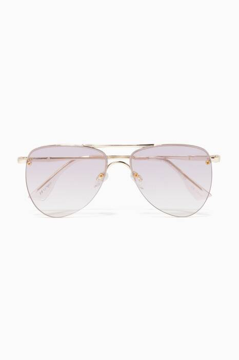 Gold & Lilac The Prince Aviator Sunglasses