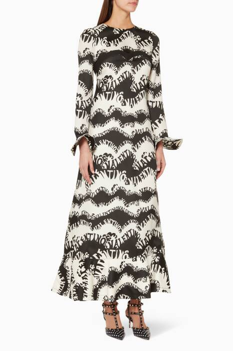 Black & White Printed Dress