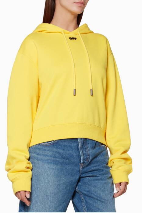 Yellow Arrow Hooded Cropped