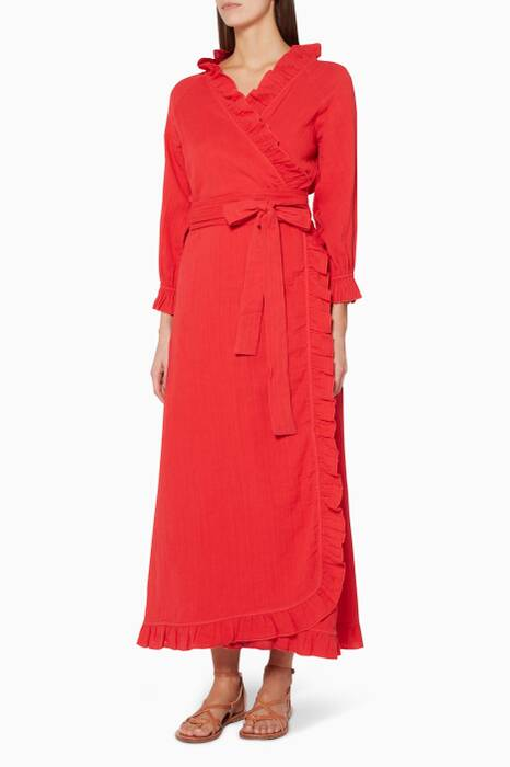 Red Jagger Wrap Dress