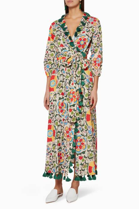 Multi-Coloured Floral-Print Lena Robe