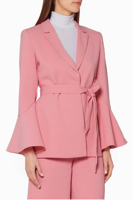Light-Pink Wildfire Belted Blazer