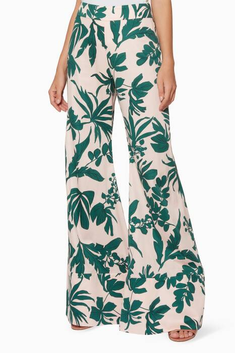 Blush & Green Printed Dasha Palazzo Pants