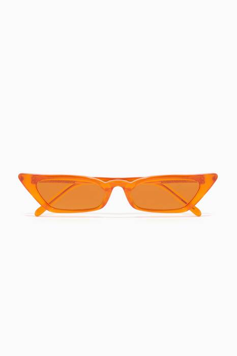 Mandarin-Orange Le Skinny Sunglasses