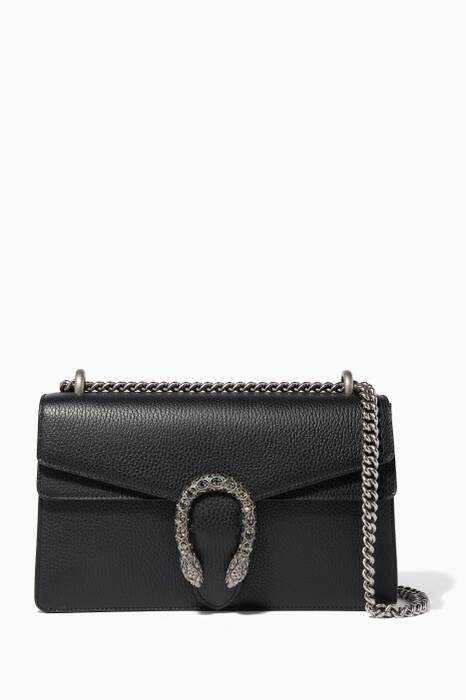 Black Small Dionysus Leather Shoulder Bag