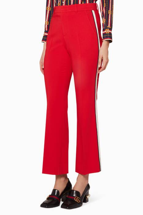 Red Stretch Bootcut Pants