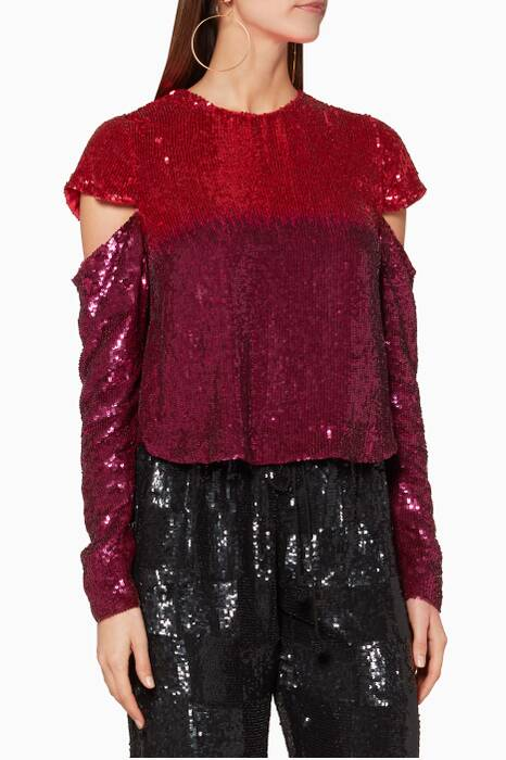 Burgundy & Pink Embellished Mandy Top