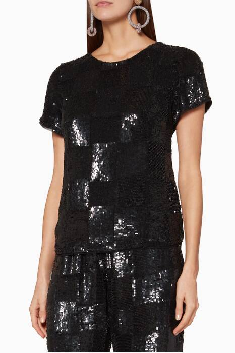 Black Embellished Anita Top