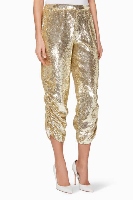 Gold Embellished Clara Pants