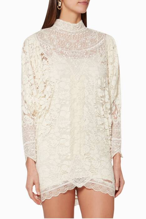 Cream Lace Bella Dress