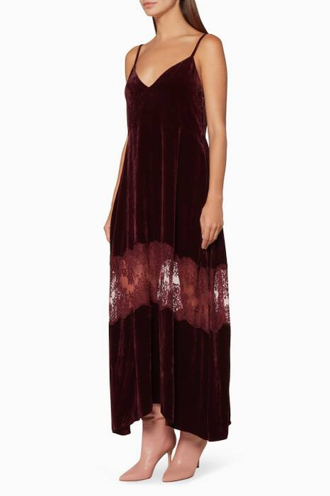Burgundy Velvet Kelsey Dress