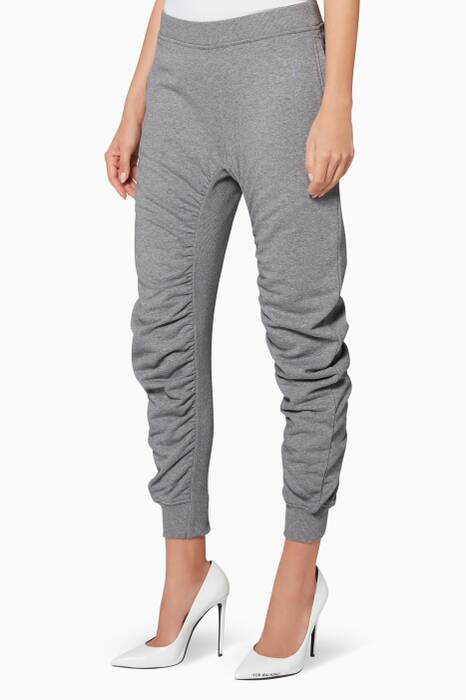Grey Ruched Track Pants