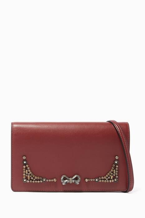 Coach X Selena Gomez Crystal-Embellished Selena Fold-Over Clutch