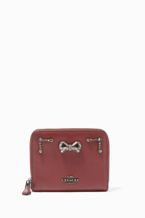 Coach X Selena Gomez Crystal-Embellished Selena Small Zip-Around Wallet