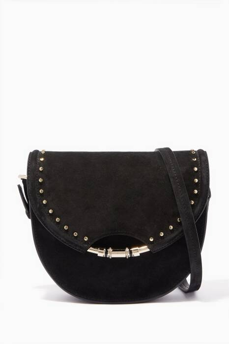 Black Chrissy Suede Cross-Body Bag