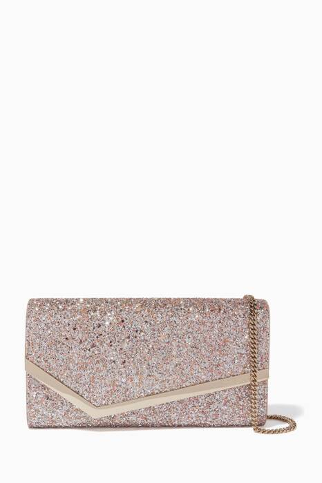 Bright-Pink Viola Mix Emmie Coarse Glitter Clutch