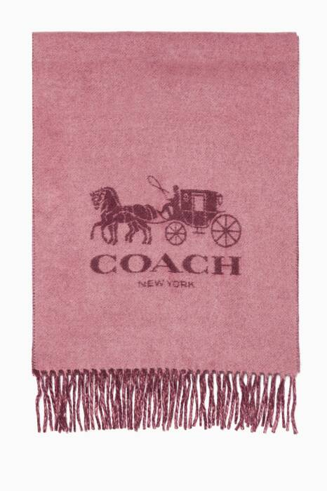 Rose & Plum Horse & Carriage Cashmere Muffler