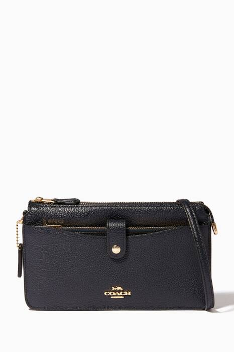 Navy Pop-Up Messenger Shoulder Bag
