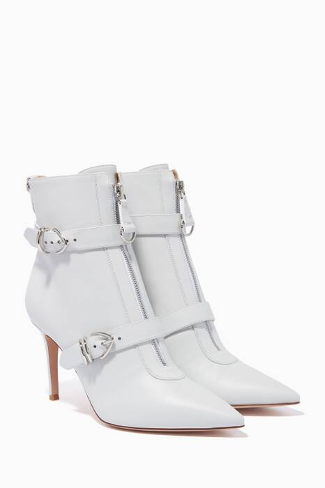White Joan Leather Boots