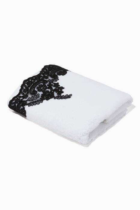 White & Black Anabella Wash Towel