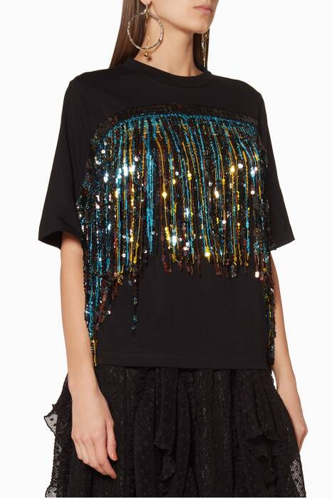 Multi-Coloured Love Potion Fringe T-Shirt