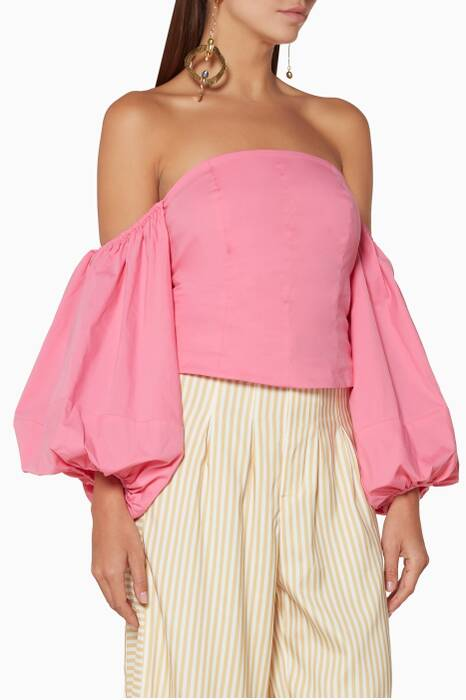 Pink Off-The-Shoulder Emma Top