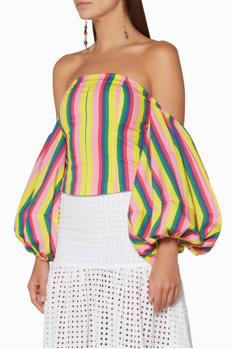 Multi-Coloured Emma Striped Top