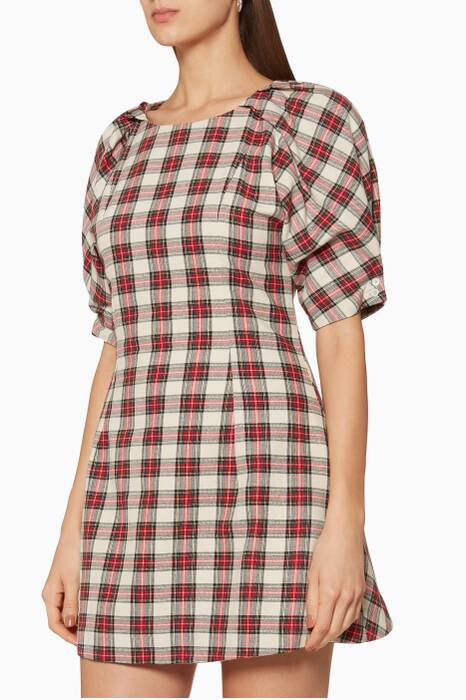 Cream & Red Tartan Fashionably Early Dress