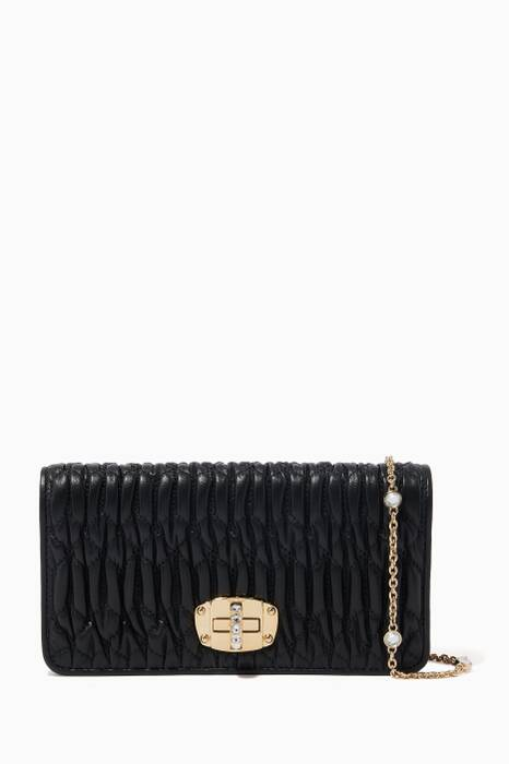 Black Crystal Chain Wallet