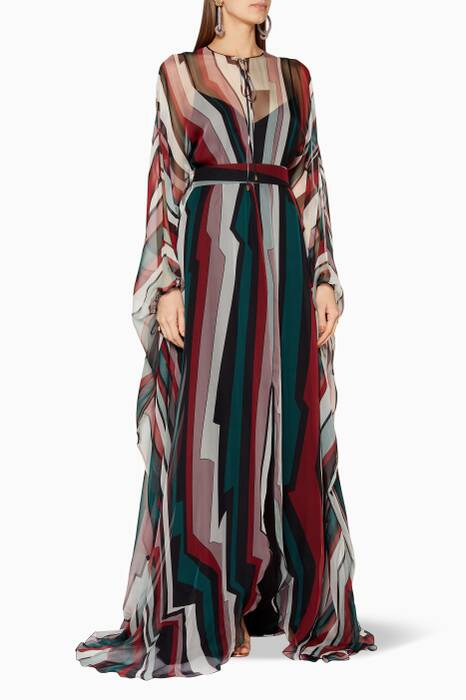 Multi-Coloured Striped Kaftan