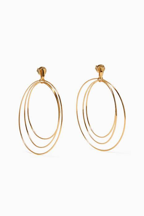 Gold Christy Hoop Earrings