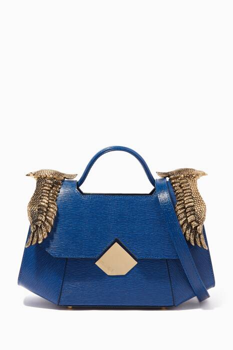 Blue Baby Colonel Verona Leather Shoulder Bag