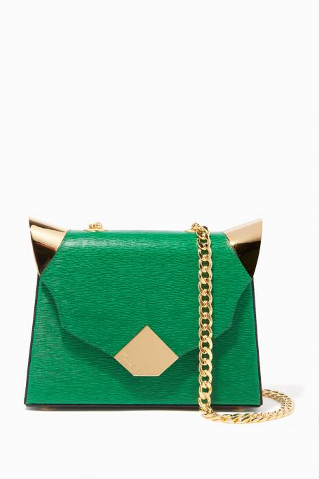Bright-Green Baby Marshall Verona Leather Shoulder Bag